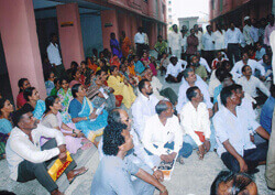 Pre Lottery Meeting of Beneficiaries of Slum Dwellers